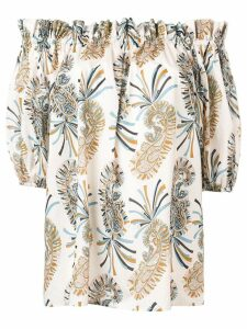 Etro off-shoulder paisley blouse - NEUTRALS