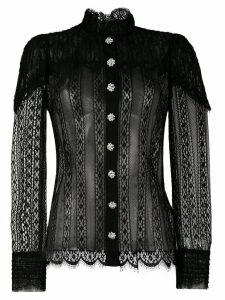 Dolce & Gabbana lace panel blouse - Black