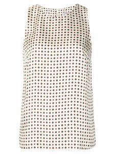 Alberto Biani floral print blouse - White