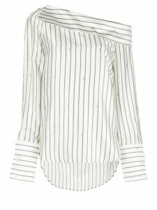 Monse striped longsleeved blouse - White