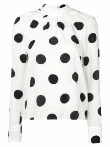 MSGM polka dot blouse - White
