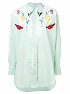 Vivetta embroidered western shirt - Green