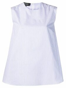 Rochas striped bow top - Blue
