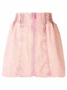 Miu Miu high-waisted denim skirt - PINK