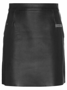 Off-White High-Waisted Leather Mini Skirt - Black
