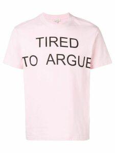Natasha Zinko TRIED TO ARGUE oversized T-shirt - PINK