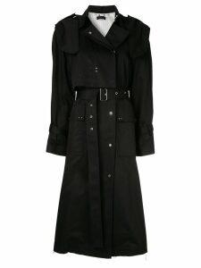 Eudon Choi belted studded trenchcoat - Black