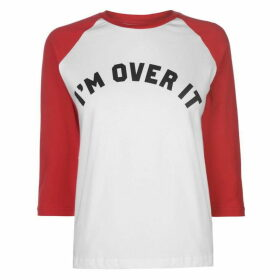 Swallows and Daggers I'm Over It Long Sleeve T Shirt - Red/White