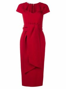 Stella McCartney sash detail midi dress - Red
