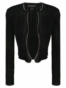 Pinko cropped ribbed knit cardigan - Black