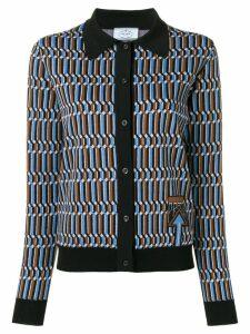 Prada classic cardigan - Blue