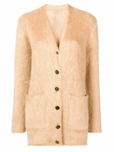 Burberry v-neck midi cardigan - Brown