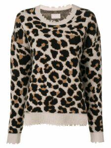 Zadig & Voltaire kansas leopard pullover - Neutrals