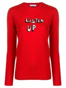 Bella Freud Listen Up Jumper - Red