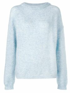 Acne Studios Dramatic oversized jumper - Blue