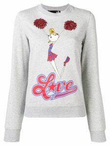 Love Moschino cheerleader print sweatshirt - Grey