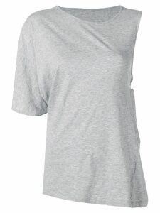 Mm6 Maison Margiela asymmetric T-shirt - Grey