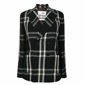 Vivienne Westwood Double Breasted Linen Checked Jacket