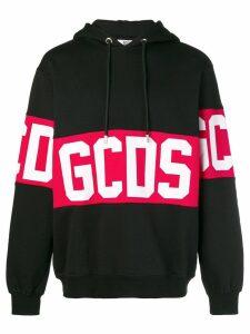 Gcds logo stripe hoodie - Black
