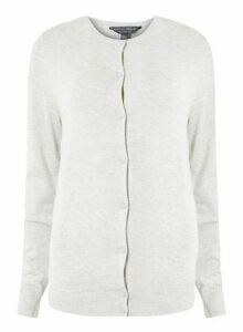 Womens **Tall Grey Button Cardigan, Grey