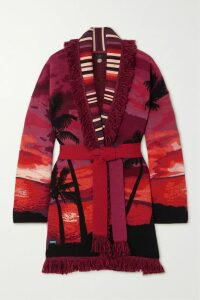 Rosie Assoulin - Blaze Your Saddles Striped Cotton-blend Jacquard Blazer - Red