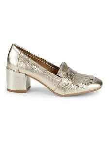 Michelle Kiltie-Top Pebbled Loafers