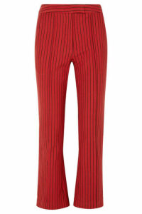 Rosie Assoulin - The Scrunchy Striped Cotton-blend Jacquard Flared Pants - US4