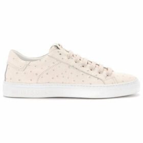 Hide jack  Ostrich cream oyster leather sneaker.  women's Shoes (Trainers) in Beige