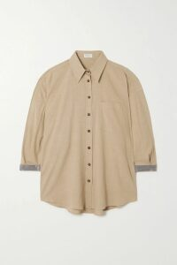 Equipment - Bradner Striped Twill Shirt - Black