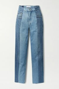 Unravel Project - Asymmetric Cotton-terry Hoodie - Red