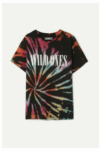 AMIRI - Wild Ones Printed Tie-dyed Cotton-jersey T-shirt - Black