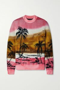 Temperley London - Lena Checked Satin-jacquard Wide-leg Pants - Blue