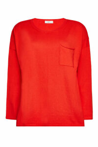 Closed Cotton Pullover with Cashmere