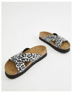 Papillio by Birkenstock leopard flatform sandals-Multi