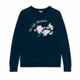 Let Life Blossom Cotton Sweatshirt with Embriodery