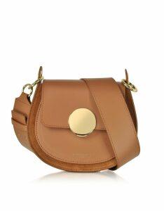 Le Parmentier Designer Handbags, Yucca Suede and Leather Shoulder Bag