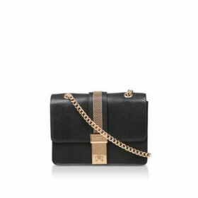 Carvela Casey Chain Cross Body - Black Snake Print Cross Body Bag