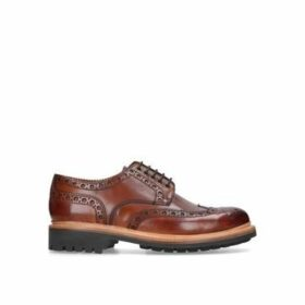 Grenson Archie Wc Derby - Tan Leather Brogues