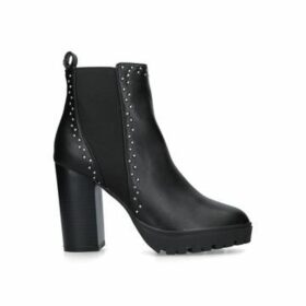 Kg Kurt Geiger Trinity 2 - Black Studded Block Heel Ankle Boots