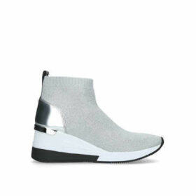 Michael Michael Kors Skyler Bootie - Silver High Top Sock Trainers