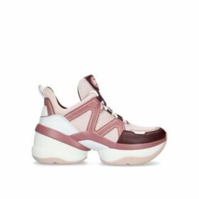 Michael Michael Kors Olympia Trainer - Pink Leather Chunky Trainers