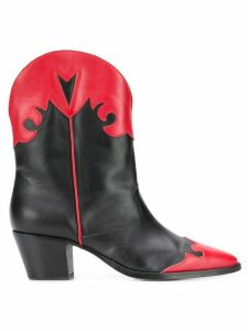 Paris Texas two-tone boots - Black