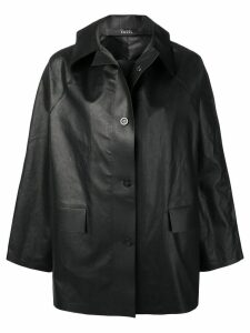 Kassl oversized short coat - Black