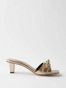 Rochas - High-rise Floral Satin Maxi Skirt - Womens - Blue Multi