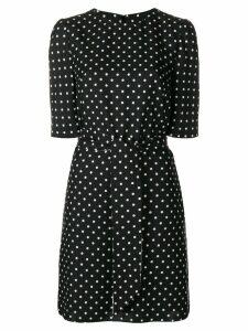 Talbot Runhof dotted tie waist dress - Black