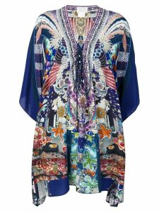 Camilla mini kaftan dress - Blue