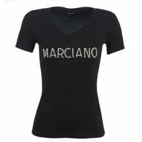 Marciano  LOGO PATCH CRYSTAL  women's T shirt in Black