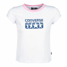 Converse  T-SHIRT SS CREW SLIM AMERICANA  women's T shirt in White