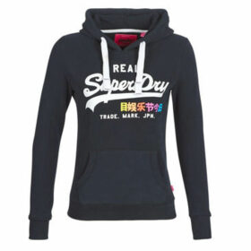 Superdry  VINTAGE LOGO POP ENTRY HOOD  women's Sweatshirt in Blue