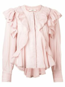 Isabel Marant Étoile frilled blouse - PINK